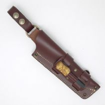 MK II TBS Leather Nordic Dangler Type Sheath with Firesteel Attachment. - Regular